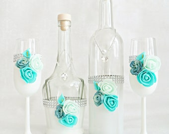 Set Tom, wedding set, wedding glass, wedding decoration