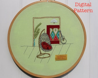 The Chair Quartet Digital Embroidery Pattern No. 2