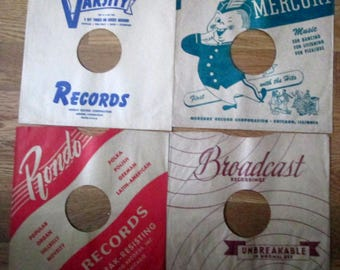 Vintage RCA Victor Decca and other labels 1920-40's unused record album sleeves