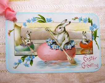 Easter Tags  Rabbit Boat Races