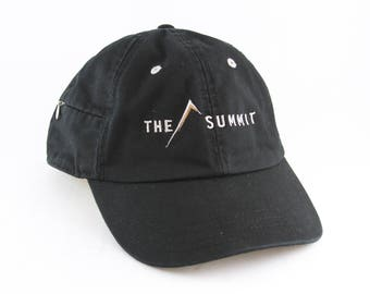 The Summit Black Dad Hat // Hiking Baseball Cap with Zippered Pocket on the Side // Mountain Climbing Hat