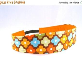 20%OFF SALE Boho Flower Headband - Brown, Orange, Turquoise