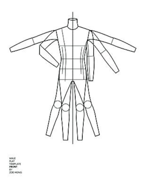 fashion flats templates male. Black Bedroom Furniture Sets. Home Design Ideas