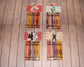 Pinocchio Made To Order Crayon Favor Bags