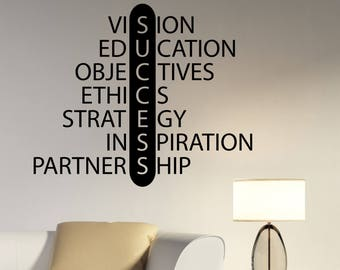 Success Wall Decal Vinyl Lettering Business Education Motivational Quote Sticker Inspirational Sayings Art Home Classroom Office Decor hq8