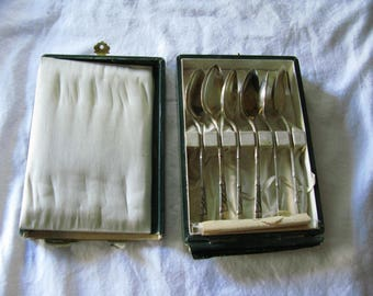 Set of Six Sterling Teaspoons in Original Box