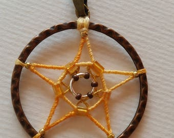 Mystical pendant 5 point star.