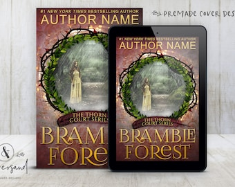 "Premade Digital eBook Book Cover Design ""Bramble Forest"" Fairy Tale Romance Traditional Fantasy YA Young Adult Fiction"