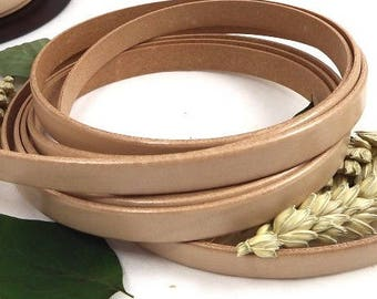 flat leather 10mm natural high quality 20 cm