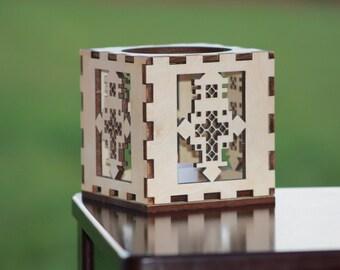 Ethiopian Cross tealight holder