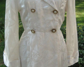 1940's Slinky Lounging Robe-Gown Starlet Quality Bridal Lingerie Hollywood Glam