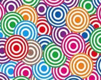 cabochon square 20mm, pop art circles