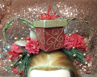 Holiday Flower Crown Mouse Ears