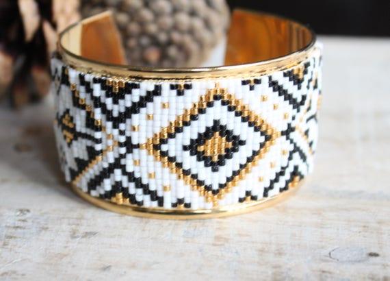 Cuff Bracelet, cuff, bracelet beads woven, bracelet Bangle, bracelet Miyuki beads, women, wide cuff bracelet
