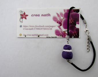 Bracelet polymer clay greed