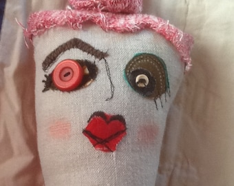 Recycled materials junker doll