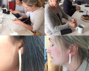 Silversmithing workshop: Earrings Wednesday 3rd May 10-12.30