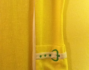 Vintage Lemon Yellow Twiggy Style Dress 1960 Vintage Dress