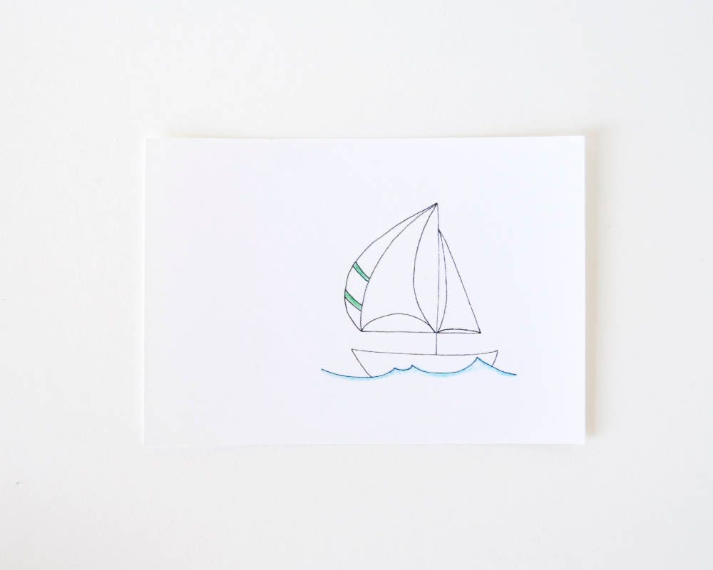Line Art Limited : Simple sail boat line drawing limited edition art print