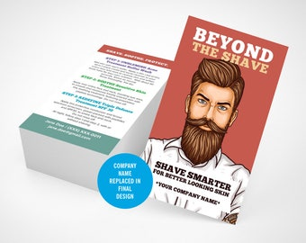 Rodan and Fields, Business Cards, Shave, Men, Beyond The Shave, Mens skincare, Instructions, Digital Printable