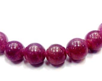 Pearl Ruby 8 mm P055 has unit gem gemstone semi precious