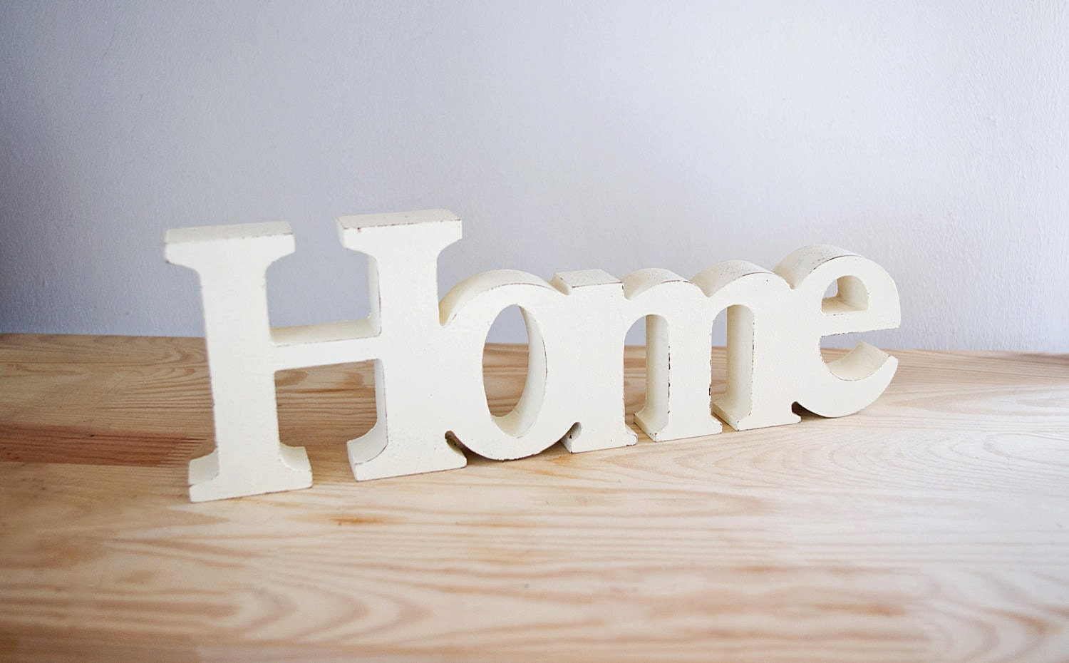 home decor wooden word home // shabby chic // decorative