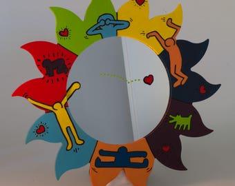 Keith Haring way Sun mirror