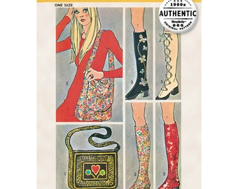Spats / Gaiters and Two Bags - Simplicity 9553 One Size