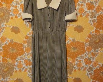 Algo Ettes Vintage Checkered Dress