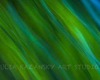 Digital download Green blur fine art abstract photography Nature abstract art