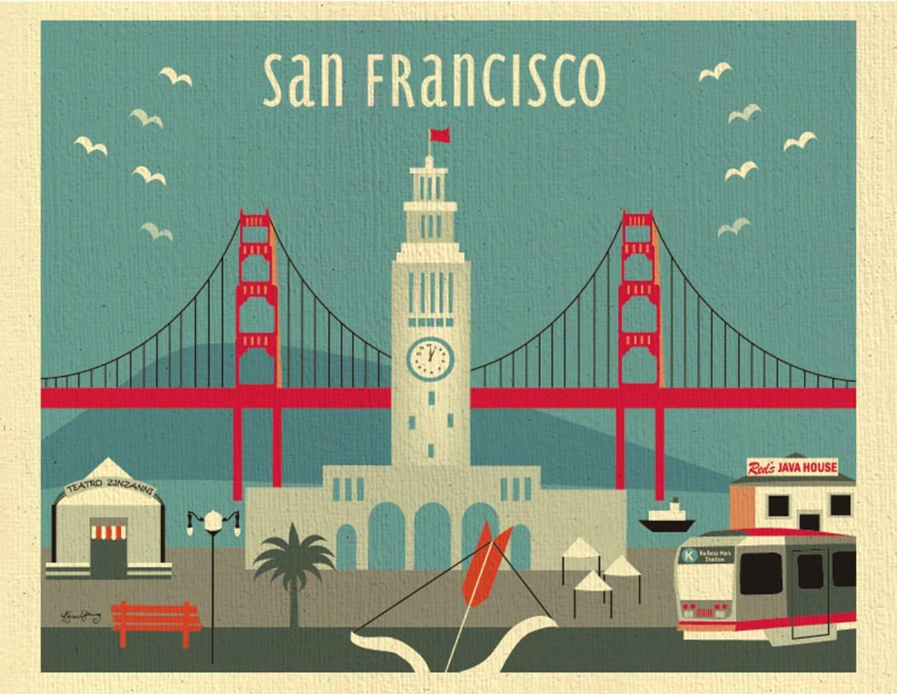 San Francisco Art Print San Francisco Skyline Wall Art