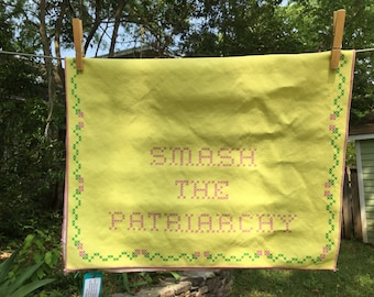 Smash the Patriarchy Tea Towel
