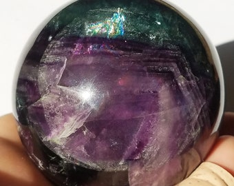 Fluorite Crystal Sphere, Fluorite Crystal Ball, Gemstone Sphere, Fluorite Crystal