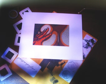 """Squeeze [varied edition print #3/4, 4x6"""" in 8x10"""" mat]"""