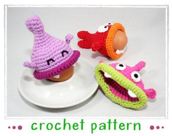 Egg Cozy - Hungry Fishes - Crochet Pattern