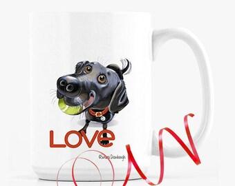 Black Lab Retriever Mug / Fathers Day Gift / Personalized Mug/ Black Lab Lover
