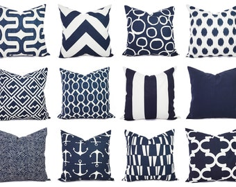 Navy Pillow Covers ...