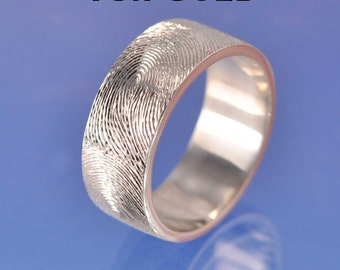Fingerprint Ring. 18k Gold (Red, white or yellow gold)