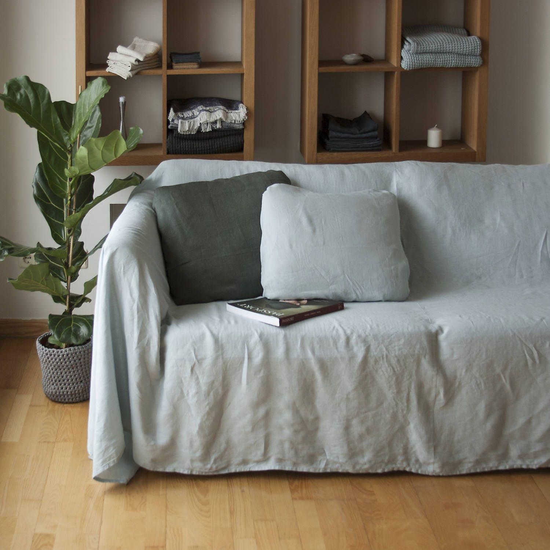 housse de canap lin couvre lit lin naturel canap housse. Black Bedroom Furniture Sets. Home Design Ideas