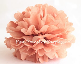 1 High Quality TERRA COTTA Tissue Pom Pom - Choose any of 60 colours - Hanging  Paper flower - Tissue paper balls - Tissue paper pom poms