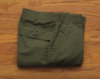 vintage OD green utility trousers