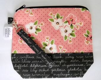 Small Zip Bag - Pink Floral