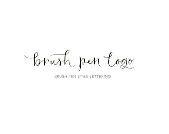 Custom Lettering Logo Hand Drawn Brush Pen Calligraphy