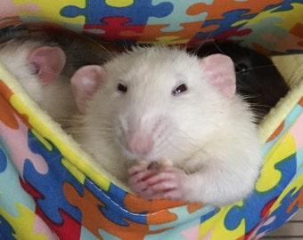 Rat Hammock, Small animal beds, chinchilla accessories, degu gift, pet mouse bedding