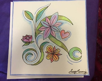 Greeting cards hand drawn design