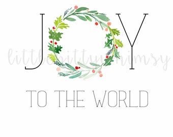 Joy to the World Digital Printable 8x10