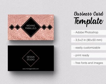 Rose gold white black marble glitter foil business card rose gold white black marble glitter foil business card template colourmoves