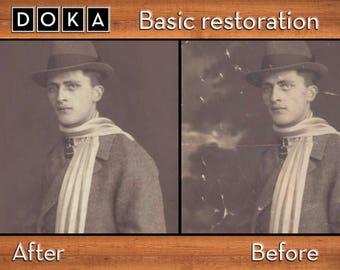 Basic Photo Restoration - Photo Manipulation - Damaged Photo Repair - Photo Editing