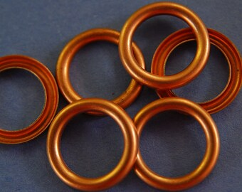 6Small Vintage Copper Rings