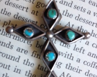 Vintage Double Sided Sterling Cross